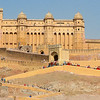The Immense scale of Amer fort. People and elephants seem like ants!