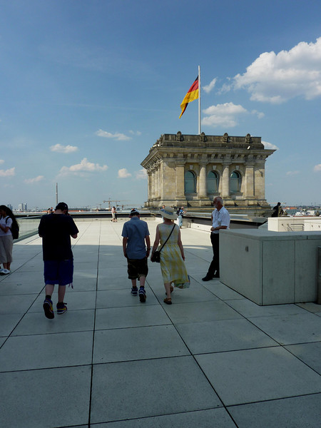 Walking towards the Reichstag Flag