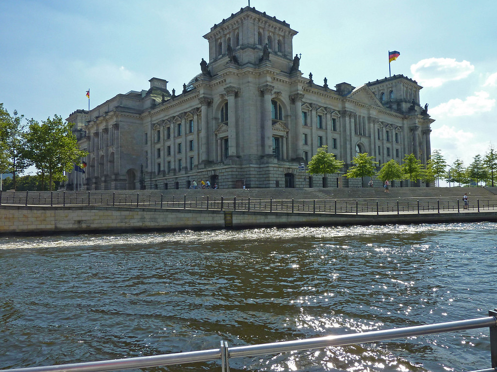Then Reichstag from the river