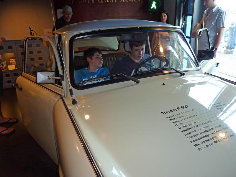 Jamie & Ian in the Trabant