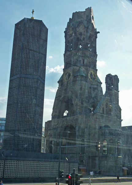 The ruined church from the bus