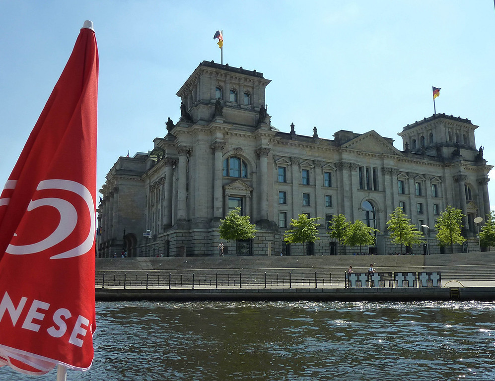 Reichstag side on