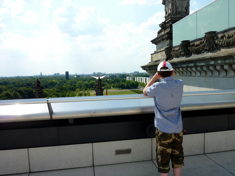 Ian looking out from the top of the Reichstag