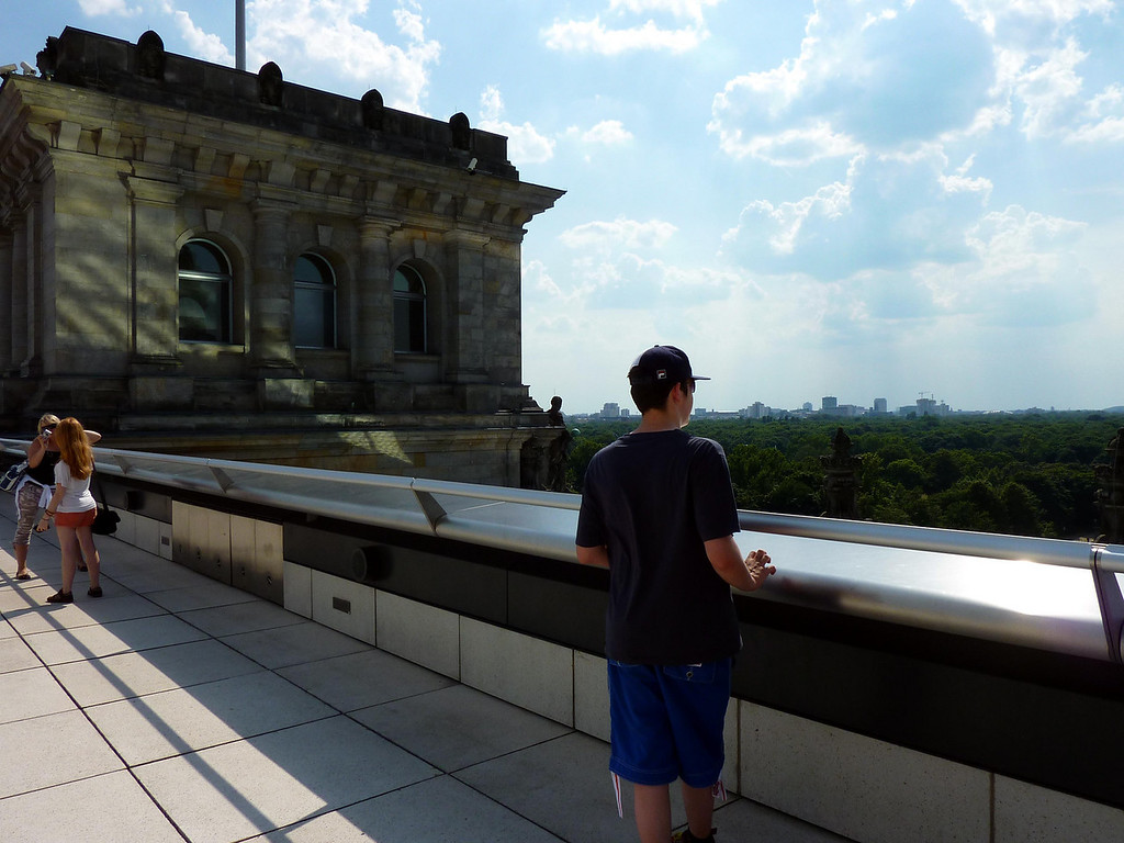 Jamie looking out from the Reichstag