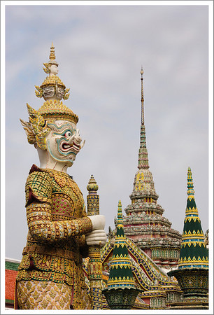 The big guardian at Wat Phra Kaew