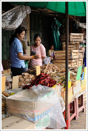 Dried fish for sale.
