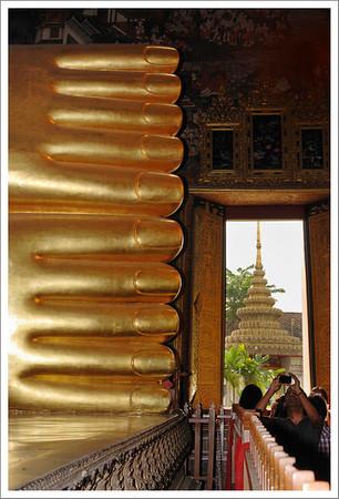 Buddha's toes at Wat Pho.