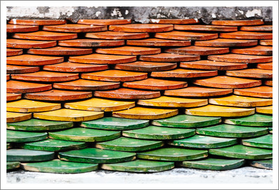 Colorful roof tiles.
