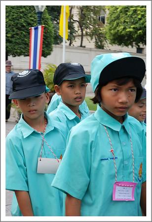 School children on a tour.