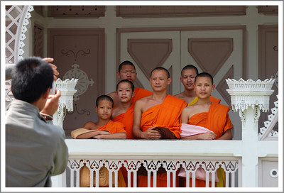 There were monks of all ages visiting the tourist spots as well.