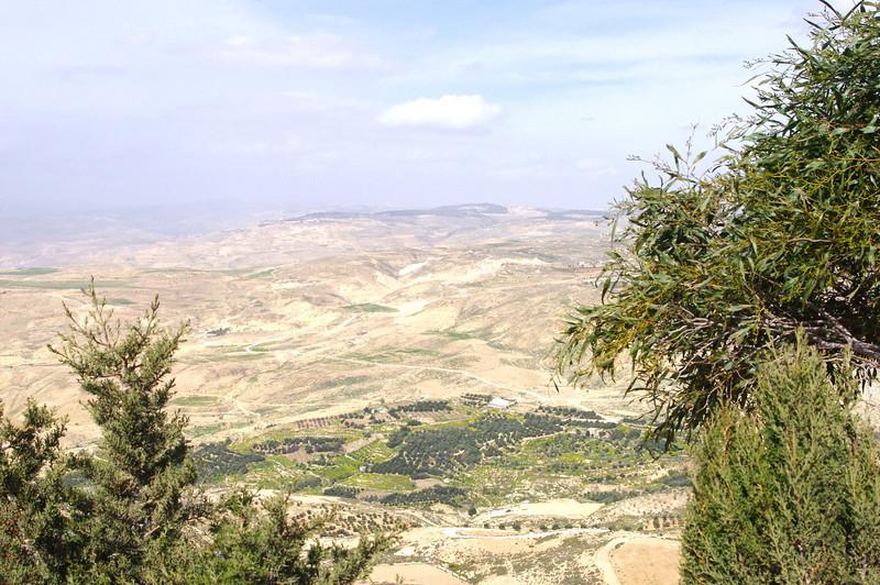 Utsikt från Mount Nebo över landet som flödar av mjölk och honung