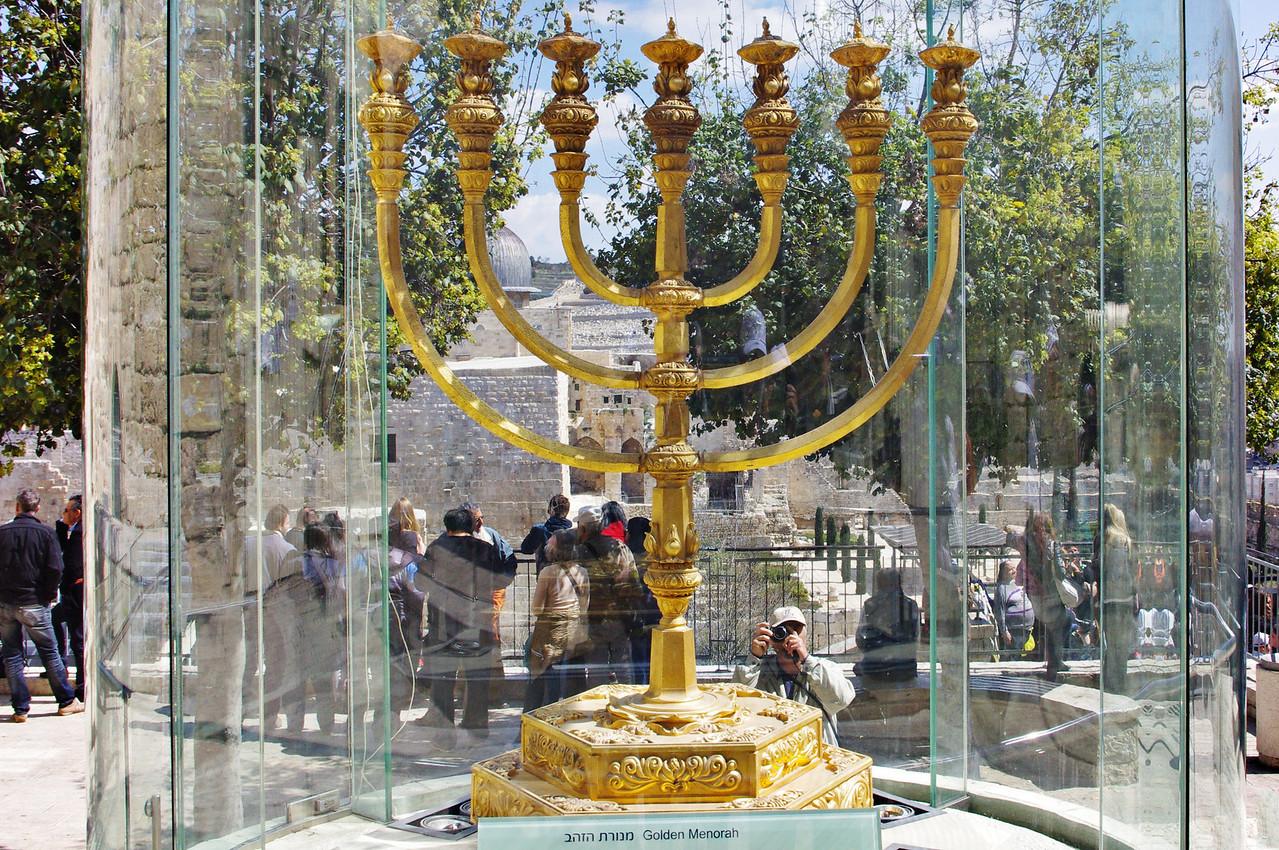 Gyllene Menora kopia, Jerusalem