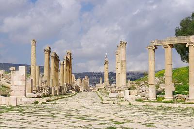 Huvudgatan i Jerash