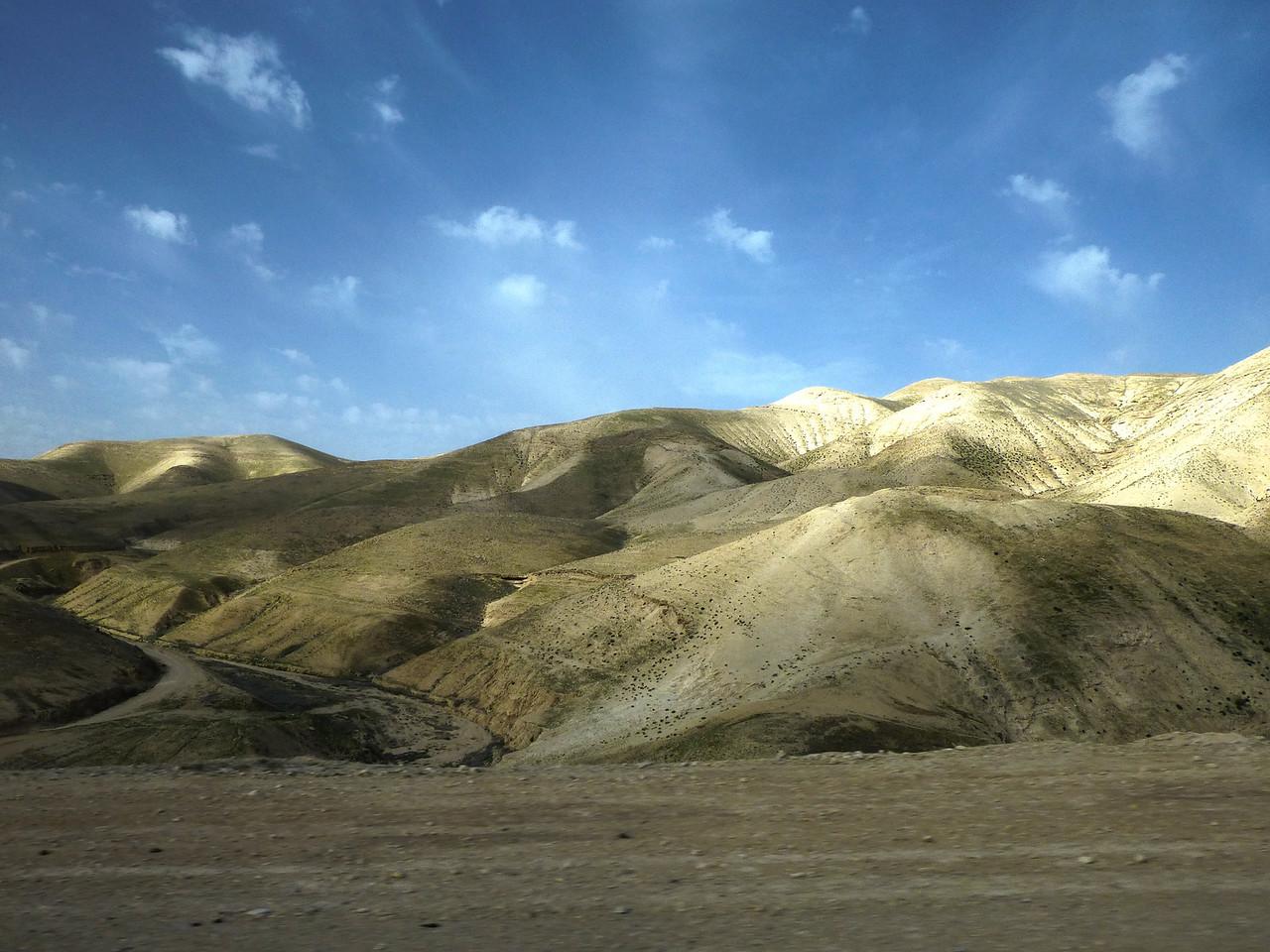 Israel, vägen mot döda havet