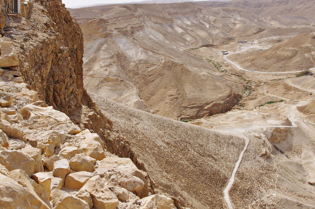 Masada,  romerska vägen upp