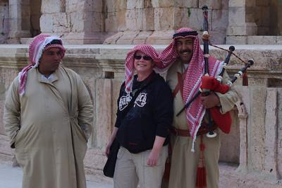 Tre musikanter i Jerash