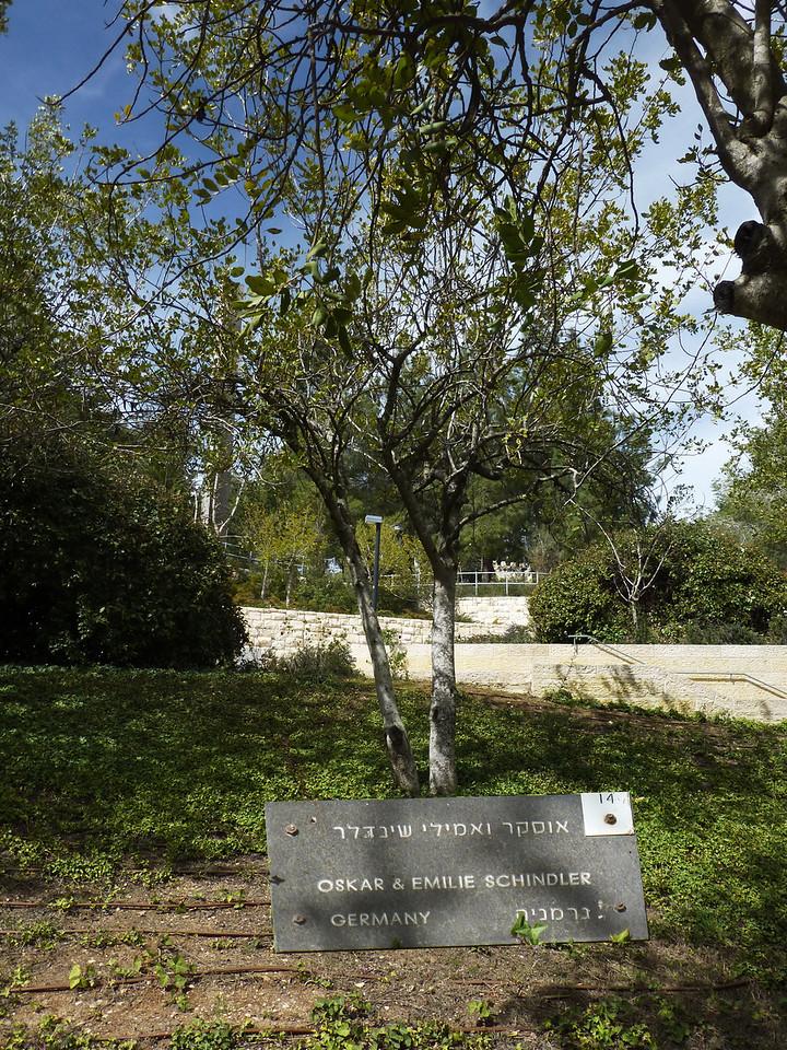 Yad Veshem, de rättfärdigas trädgård