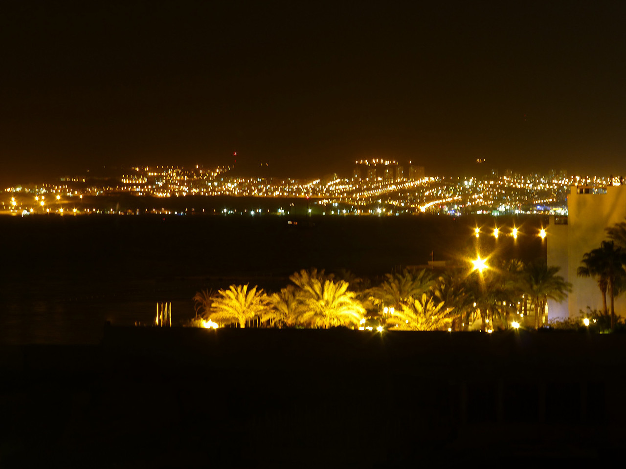 Utsikt mot Eilat, Israel