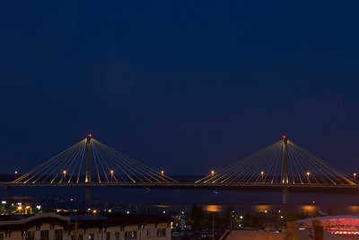 Clark Bridge, Alton, IL, after dark