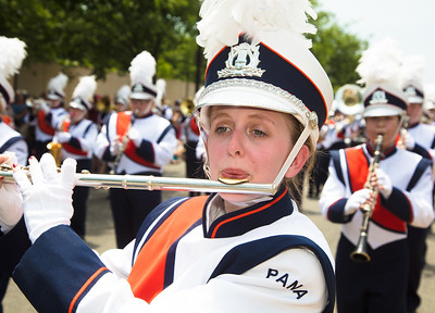The Pana H.S. Panther Marching Band (Pana, IL) yesterday at the National Independence Day Parade.