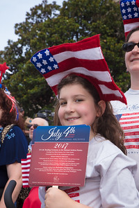 Katie (age 9) from Silver Spring Md. watches the U.S.Army Old Guard Fife and Drum Corp. perform from the National Archives steps.