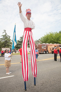 Steve Myott (Westfield Vt.) as Uncle Sam has been at the parade since 1992