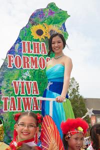 Kira Omans - Taiwanese American float