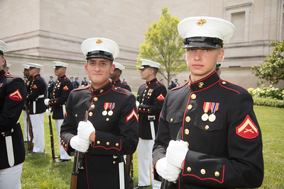 Part of the U.S. Marine Corps marching unit.