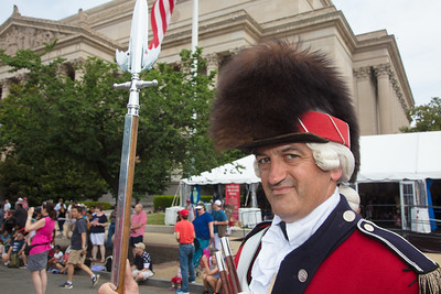 The United States Army Old Guard Fife and Drum Corps' Senior Drum Major MSG William White Jr.