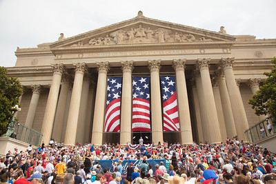 Dramatic reading of the Declaration of Independence by special guests including Abigail Adams, John Adams, John Dunlap, Benjamin Franklin, John Hancock, Ned Hector, Thomas Jefferson, & George Washington.