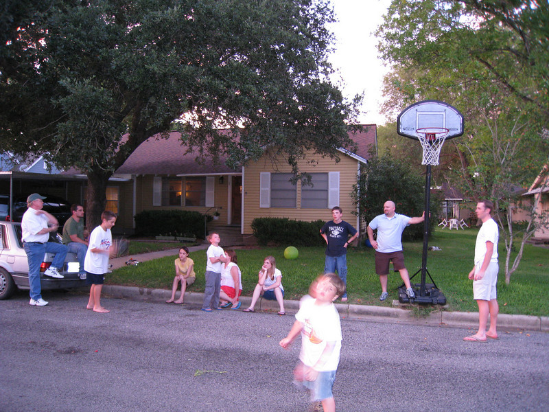 Mostly Everyone <br /> L to R:<br /> Uncle Wes, Clint, Max, Katey, Thad, Mom, Hannah, Anson, Graham, Kylie, Josh
