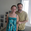 Fresh out of the shower after the family spent a few hours on the beach in the afternoon. Casey and her Dad.