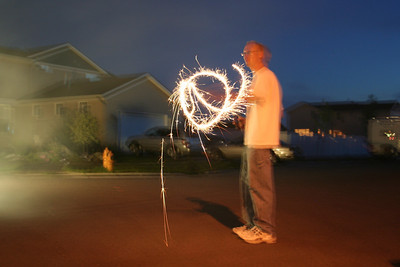 Patrick was also having fun with the sparkler
