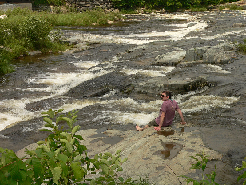 David relaxes by the river