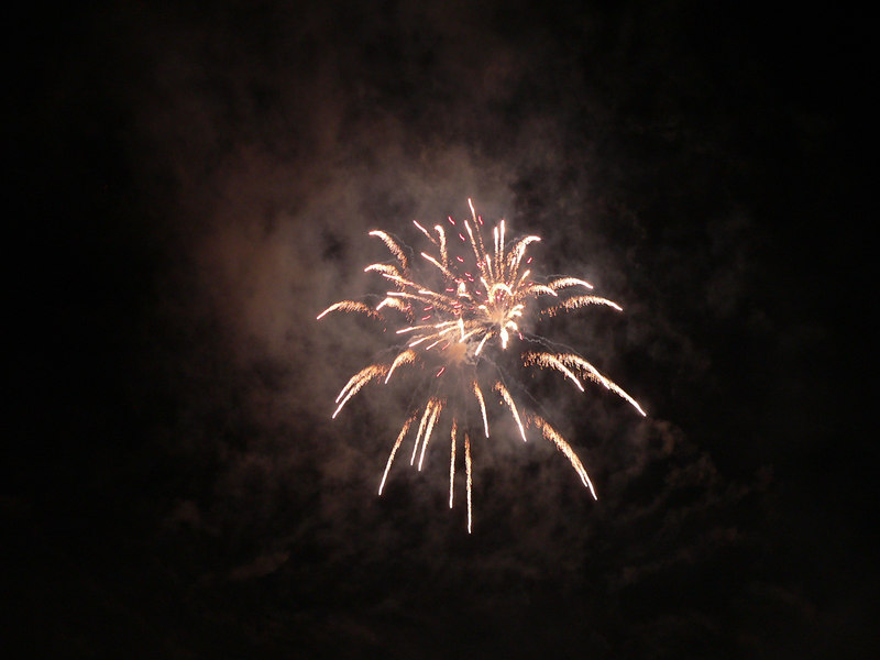 Evening fireworks at the Mt. Washington hotel in Bretton Woods