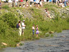 Vesna, David, Elana and Bonnie at the river in Franconia, waiting for the great (plastic) duck race