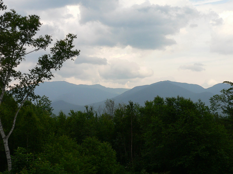 View of the White Mountains from the deck of Sara & David's house
