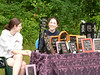 Erica (right) and her friend at the Franconia Day crafts fair