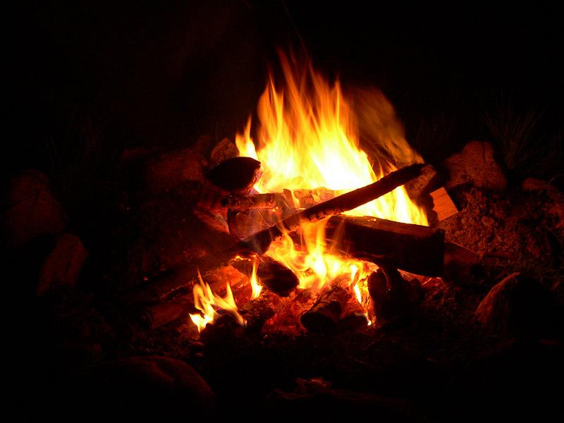 Saturday night campfire
