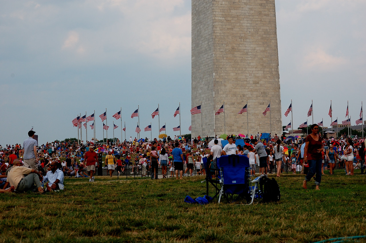 July 4th in Washington, DC on the National Mall