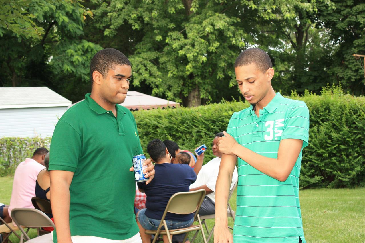 Marcus and William conversing