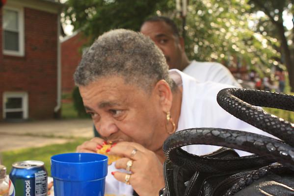 Queen B, eatting Corn on the Cob