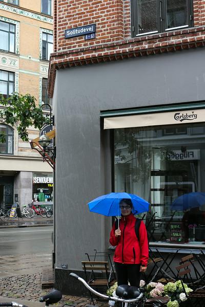I regnvejr på Solitudevej
