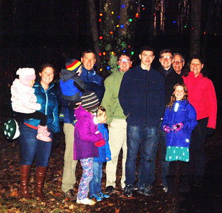 Debbie Blank | The Herald-Tribune The Jim and Betty Frey family arrived early. The Festival of Lights lasted from 5:30-9 p.m.