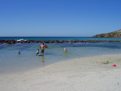The rock pool at Stokes Bay
