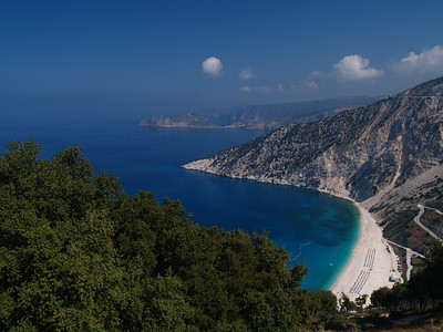 3rd Sept. 2009. Myrtos Beach - the one that appears on almost every postcard and calendar of Kefalonia