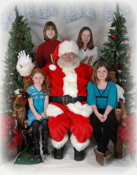 Kelly family with Santa