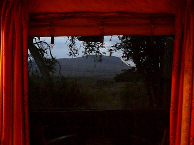 View from hotel room in Tsavo West