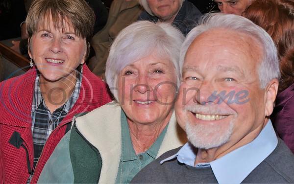 Darleene  Hart, Kathi Jackson & Larry Smith enjoying the concert.