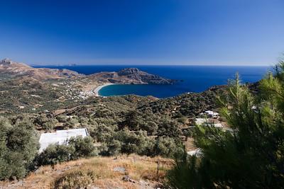 Vakantie Kreta. Uitzicht bij Mirthios.